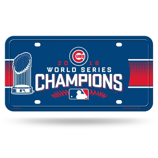 Chicago Cubs 2016 World Series Champions Metal License Plate Tag MLB