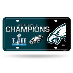 Philadelphia Eagles Super Bowl LII Champions Metal License Plate NFL
