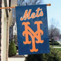 New York Mets 2 Sided Embroidered Vertical House - Wall Flag