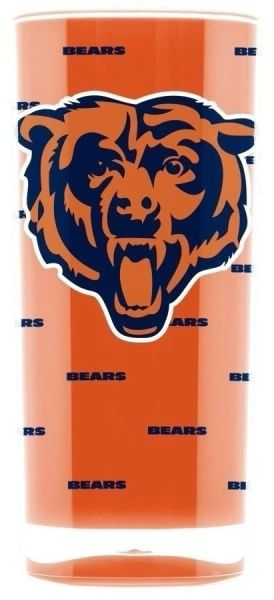 Chicago Bears Acrylic Tumbler Cup 20oz. Square Insulated/Shatterproof NFL Licensed FREE SHIPPING