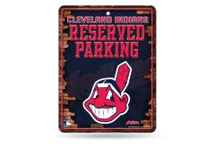 Cleveland Indians Metal Reserved Parking Sign MLB Licensed