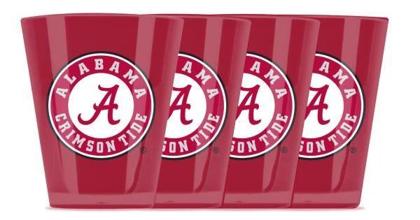 Alabama Crimson Tide Shot Glasses 4pack Shatterproof NCAA