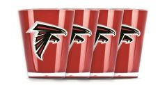 Atlanta Falcons Shot Glasses 4 Pack Shatterproof NFL