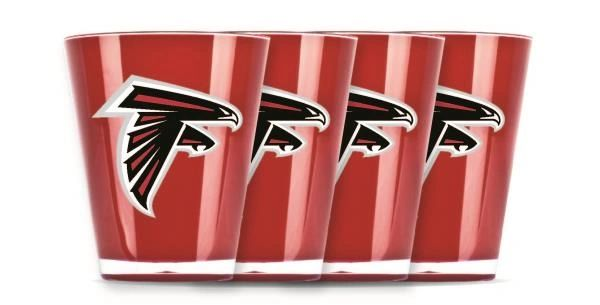 Atlanta Falcons Shot Glasses 4 Pack Shatterproof NFL