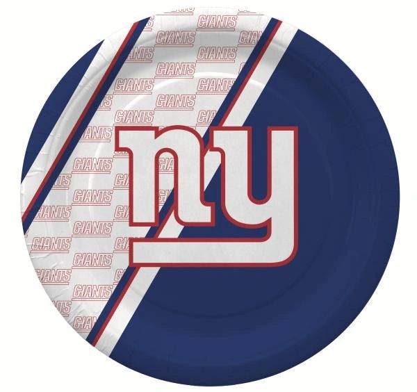 "New York Giants 10"" Disposable Paper Plates 20 Count Partyware"