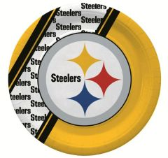 Pittsburgh Steelers 80 Piece Paper Plates Napkins Forks and Cups Party Supplies Pack