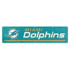 Miami Dolphins 2' x 8' Wall Banner Flag NFL Licensed