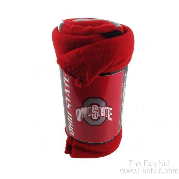 Ohio State Buckeyes Fleece Throw Blanket NCAA