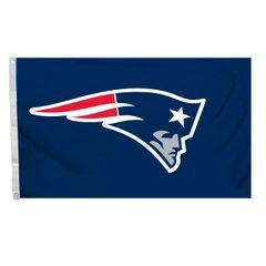 New England Patriots Team Logo Banner Flag 3' x 5' NFL Licensed