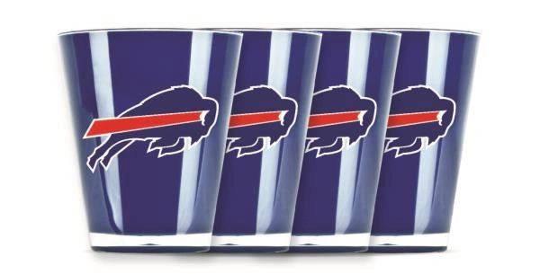 Buffalo Bills Shot Glasses 4 Pack Shatterproof NFL