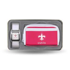 New Orleans Saints Ladies Clutch and Watch Set NFL