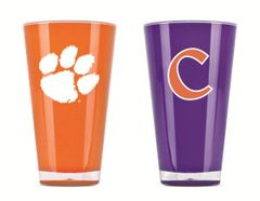 Clemson Tigers Tumblers Cups 2 Pack NCAA Licensed