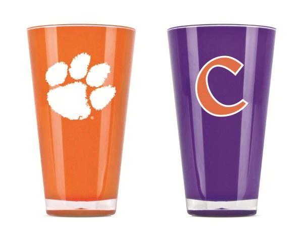 Clemson Tigers Tumblers Cups 2 Pack NCAA Licensed