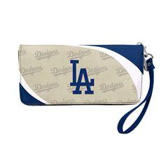 Los Angeles Dodgers Team Logo Women's Zip Organizer Wristlet Wallet MLB