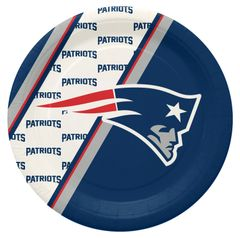 "New England Patriots 10"" Disposable Paper Plates 20 Count Partyware"