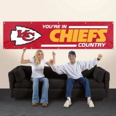 Kansas City Chiefs 2' x 8' Wall Banner Flag NFL Licensed