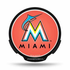 Miami Marlins LED Window Decal Light Up Logo Powerdecal