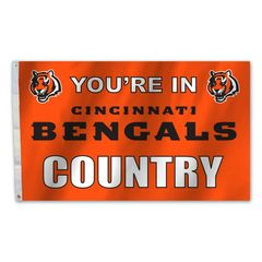 Cincinnati Bengals You're In Country Banner Flag 3' x 5' NFL Licensed