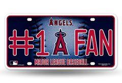 Anaheim Angels #1 Fan Metal License Plate Tag MLB Licensed
