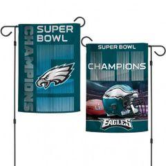 Philadelphia Eagles Super Bowl LII Champions 2 Sided Garden Flag
