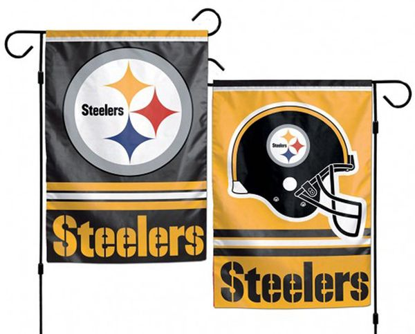 "Pittsburgh Steelers 2 Sided Garden Flag 12"" x 18"" NFL Licensed"
