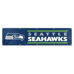 Seattle Seahawks 2' x 8' Wall Banner Flag NFL Licensed