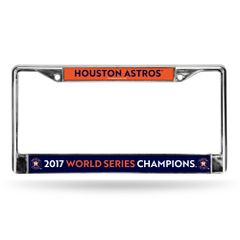 Houston Astros 2017 World Series Champions Chrome Metal License Plate Frame MLB