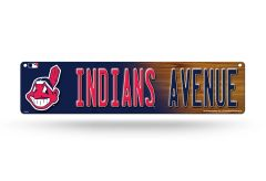 "Cleveland Indians Hi Res 4"" x 16"" Acrylic Wall Street Sign MLB Licensed"