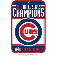 Chicago Cubs 2016 World Series Champions Fans ONLY Sign MLB Licensed