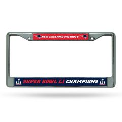 New England Patriots Super Bowl 51 Champions Chrome License Plate Frame NFL