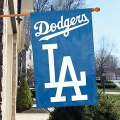 Los Angeles Dodgers 2 Sided Embroidered Vertical House - Wall Flag