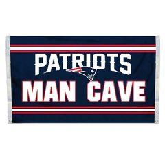"New England Patriots ""Man Cave"" 3' x 5' Banner Flag NFL Licensed"