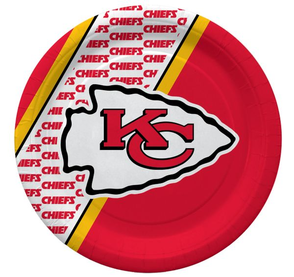 "Kansas City Chiefs 10"" Disposable Paper Plates 20 Count Partyware"
