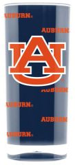 Auburn Tigers Acrylic Tumbler Cup 20oz. Square Insulated/Shatterproof NCAA Licensed