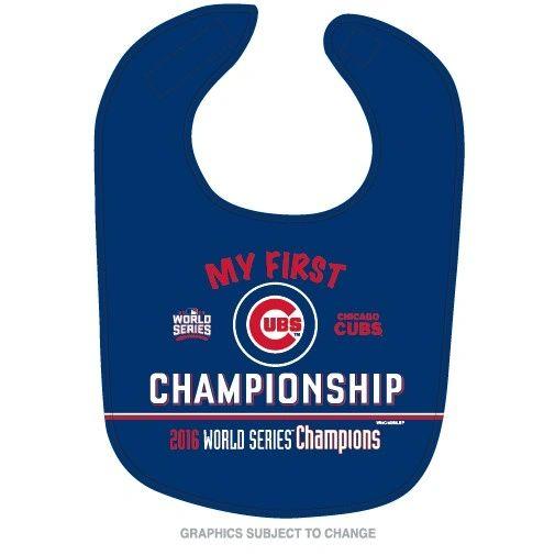 Chicago Cubs 2016 World Series Champions Baby Bib MLB Licensed