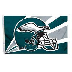 Philadelphia Eagles Team Helmet Banner Flag 3'x5' NFL Licensed