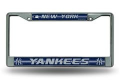 New York Yankees Chrome Bling License Plate Frame MLB Licensed