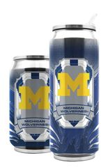Michigan Wolverines Double Wall Insulated Stainless Steel Thermo Can Travel Tumbler NCAA