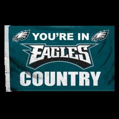Philadelphia Eagles You're In Country Banner Flag 3' x 5' NFL Licensed