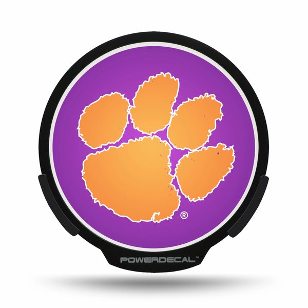 Clemson Tigers LED Window Decal Light Up Logo Powerdecal NCAA