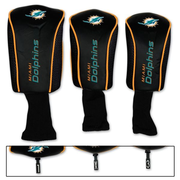 Miami Dolphins Golf Club Covers 3 pack NFL Licensed