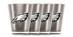 Philadelphia Eagles Shot Glasses 4 Pack Shatterproof NFL