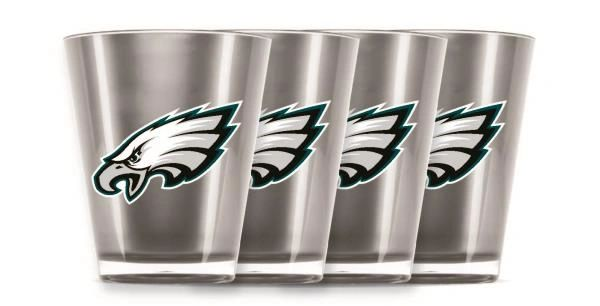 Philadelphia Eagles Shot Glasses 4 Pack Shatterproof NFL