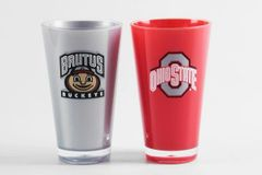 Ohio State Buckeyes Tumblers Cups Home/Away Colors 2 Pack NCAA Licensed