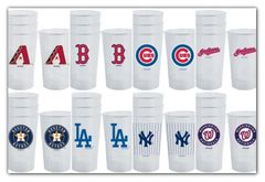 MLB Acrylic Tumblers 4 Pack Diamondbacks Red Sox Cubs Indians Astros Dodgers Yankees Nationals