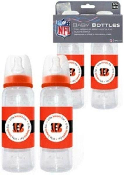 Cincinnati Bengals Baby Bottles 2pk NFL