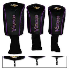 Minnesota Vikings Golf Club Covers 3 pack NFL Licensed