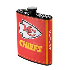 Kansas City Chiefs NFL Plastic Hip Flask w/ Team Colors and Logo