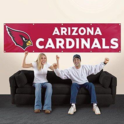 Arizona Cardinals 2' x 8' Wall Banner Flag NFL Licensed