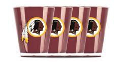 Washington Redskins Shot Glasses 4 Pack Shatterproof NFL